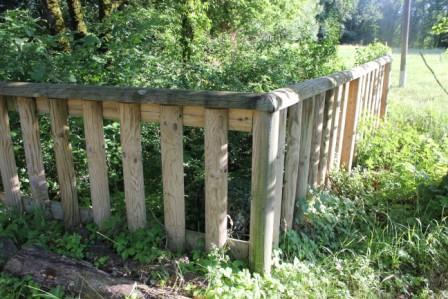 Site de SONGIEU - Exemple de barrière de protection que nous pourrions installéer à CORNILLON